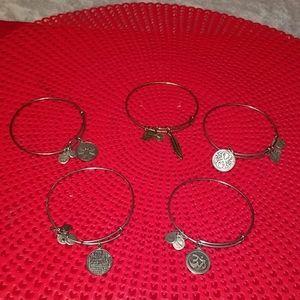 Authentic Alex & Ani - 5 pieces bracelets